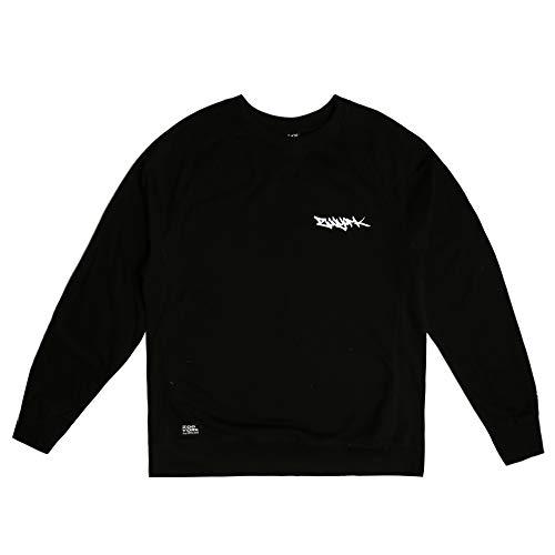 Zoo York Herren Tag Embroidery Sweatshirt, Schwarz, M