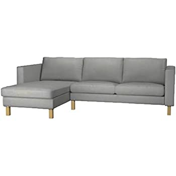 Sofa Cover Only! The Karlstad Loveseat ( Two Seat ) Sofa With Chaise Lounge  Sectional Cover Replacement Is Custom Made For Ikea Karlstad Slipcovers  (Light ...