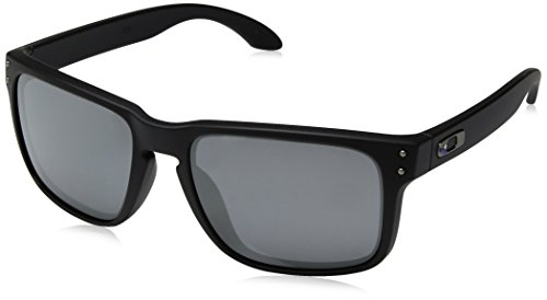 Oakley Men's OO9102 Holbrook Square Sunglasses, Matte Black/Black Iridium, 57 ()