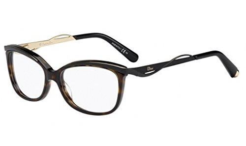 Christian Dior Cd Eyeglasses Frame (DIOR Eyeglasses 3280 06Ny Dark Havana Black)
