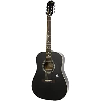 yamaha f335. epiphone dr-100 acoustic guitar, ebony yamaha f335