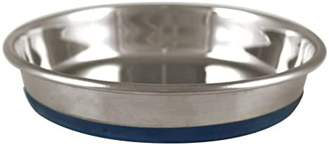 OurPets Durapet Cat Bowl or Canine Bowl (Heavyweight Sturdy Stainless Metal Cat Meals Bowl, Cat Water Bowl, Canine Meals Bowl or Canine Water Bowl) [Holds up to 1.75 Cups of Dry Cat Food or Dry Dog Food