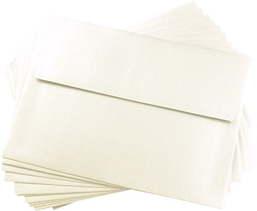 A7 Opal Metallic Straight Flap Envelopes, Stardream 81lb, 25 pack (Stardream Shimmer Envelope)