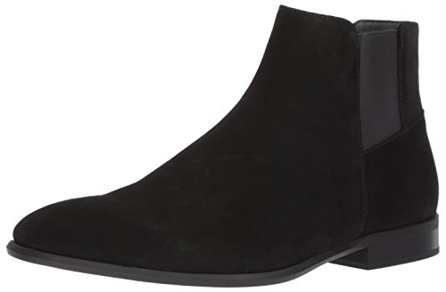 - Calvin Klein Men's Larry Ankle Bootie, Black Suede, 11 M US