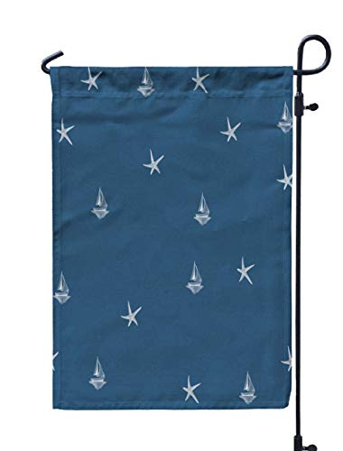 Shorping Welcome Garden Flag, 12x18Inch Watercolor Drawing Sea Theme for Holiday and Seasonal Double-Sided Printing Yards Flags ()