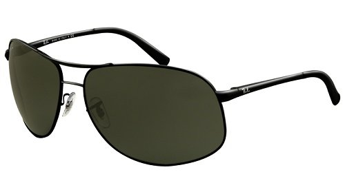 fcaa9a8f3f7 Ray Ban Rb3387 Shiny Black Frame Green Polarized Lens Metal Sunglasses