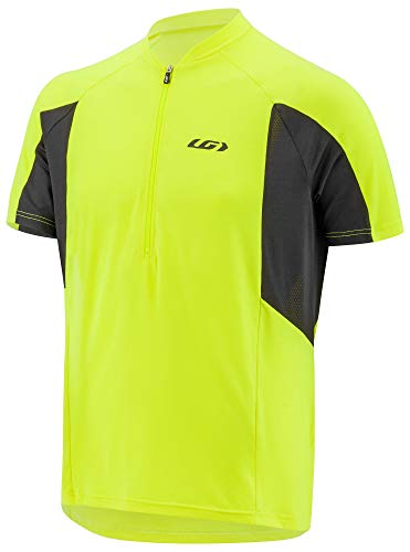 (Louis Garneau Men's Connection Lightweight, Quick Dry, Short Sleeve Cycling Jersey, Bright Yellow, X-Large)