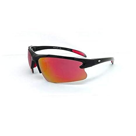 5dde68a6e3f Amazon.com  Rawlings 103 Youth Sh Black Smoke W Red Mirror  Sports    Outdoors