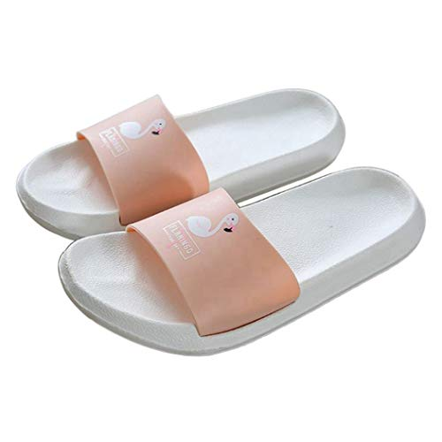 D'été Orange Femmes Chaussures Coulissantes Dessin De Flamingo Sandales Plage La Bascules Pour Animé Pantoufles Douche 1w64qOq