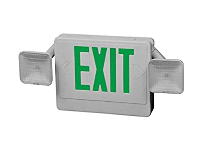 Howard Lighting HL04093GW Combo Exit/Emergency Light with Green Letters
