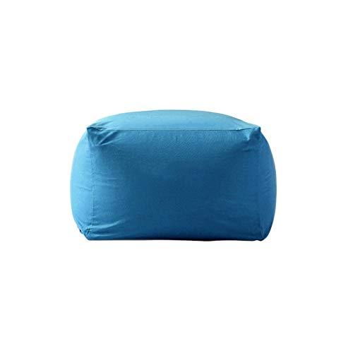 LifeX Japanese Style Lazy Sofa Stool Minimalist Linen Fabric Seat Single Bean Bag Washable Chair Bedroom Footstool Living Room Shoe Bench Apartment Bean Bag Tatami,Zipper Design (Color : Blue)