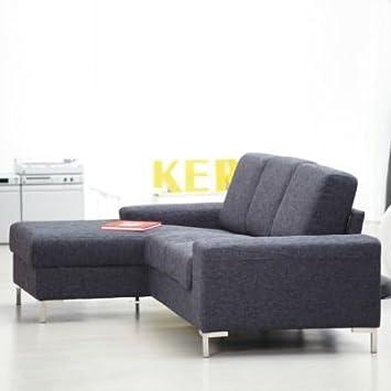 Sofa Kopenhagen kopenhagen sofa mit longchair links stoff anthrazit amazon de