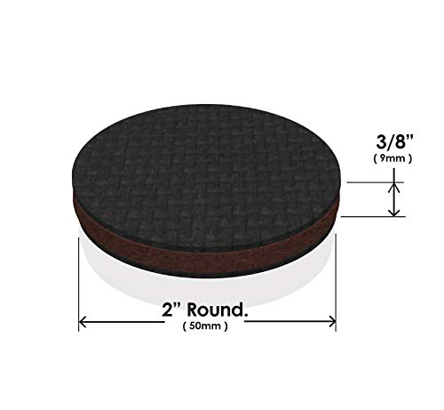 """SoftTouch 4118795N Non Slip Furniture Grippers Heavy Duty 2-1//2/"""" Round 12 Piece"""