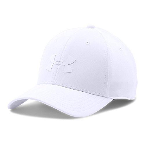(Under Armour Men's Headline Stretch Fit Cap, White (100)/White, Medium/Large)