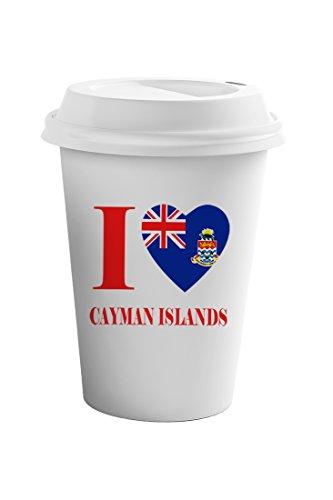 Cayman Travel Tumbler - Style In Print I Love Cayman Islands Coffee Ceramic Travel Tumbler Mug 11oz