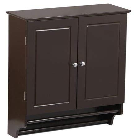 Bathroom Wall Cabinet Space Saver Cupboard Espresso