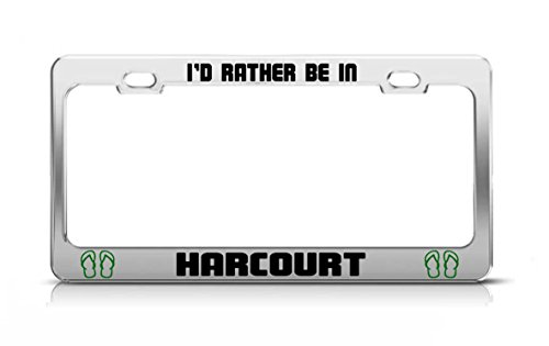 id-rather-be-in-harcourt-nigeria-chrome-metal-license-plate-frame