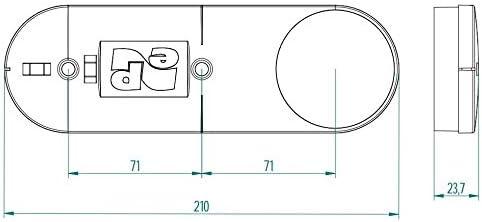 Gabarit de per/çage pour mur creux Bo/îte Bo/îte avec niveau /à bulle /Ø68/mm Interrupteur encastr/é