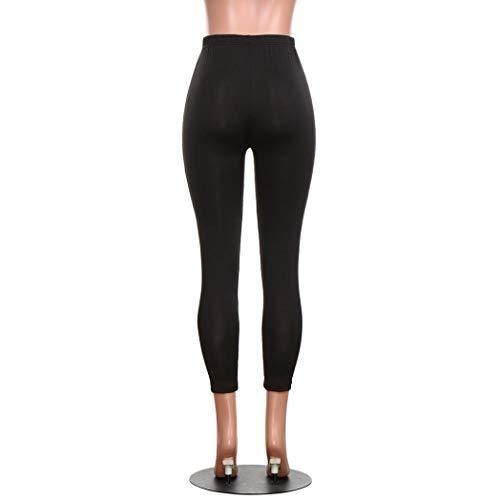 Autunno Multicolore Stampa Leggings In Stretti Con Pantaloni Yoga Elastico Vita Basic Donna Capris Gatto Gattino HRvC46q