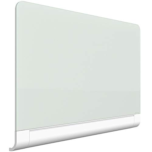 "Quartet Magnetic Whiteboard, Glass White Board, Dry Erase Board, 74"" x 42"" with Concealed Tray, Wide Format, Frameless, Horizon (G7442HT)"