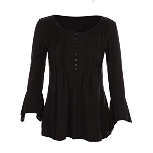 Longues Tops 4 V Blouse lgante Classique Shirt Fleur Casual ChemisierCol Chic Femme Imprim Noir T Haut Innerternet Fluide 3 Manches qY177