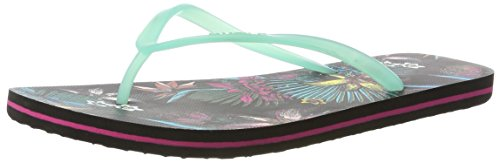 ONeill Fw Printed Flip Flop - Chanclas Mujer Schwarz (Black Allover Print)