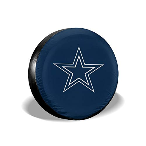 (Sorcerer Design Colorful Waterproof Tire Cover Dallas Cowboys American Football Team Unisex Protection Spare Covers Storage Wheel Cover for Car Off Road Truck)
