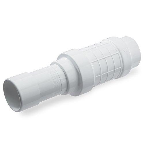KBI QF-2000 PVC Quik-Fix Telescoping Repair Coupling, Whi...