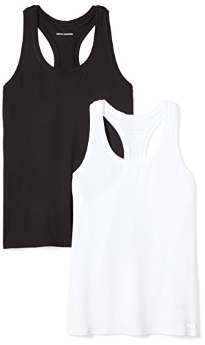 Amazon Essentials Women's 2-Pack Tech Stretch Racerback Tank Top