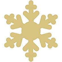 "Snowflake Style 2 (QTY 1) Unfinished MDF Wood Cutout Variety of Sizes USA Made Winter Home Decor (6"")"