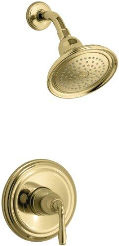 KOHLER K-T396-4-PB Devonshire Rite-Temp Pressure-Balancing Shower Faucet Trim, Vibrant Polished Brass by Kohler