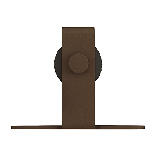 Architectural Products 48'' Mini Barn Door Hardware Kits for Single Cabinet Doors Top Mount Design in Oil Rubbed Bronze FSDH-TOPMTKIT-OB-4 trimmable down to 43'' by Architectrual Products By Outwater (Image #3)