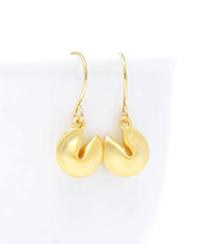 (Small Gold Plated Earrings With Fortune Cookies )