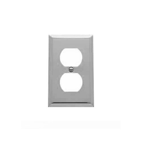 Baldwin 4752.260.CD Classic Square Beveled Edge Duplex Switch Plate, Chrome (Chrome Outlet Cover compare prices)