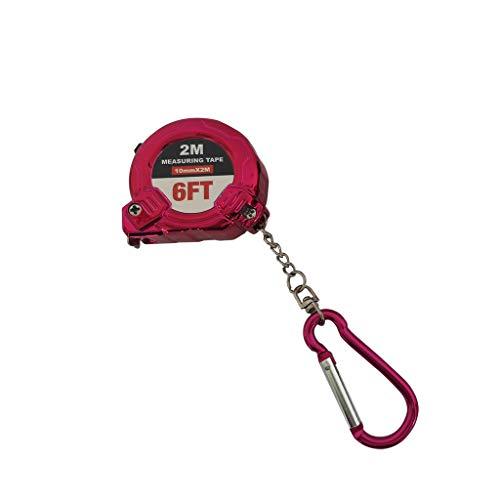 Gotian Retractable Ruler Tape Measure Key Chain Mini Pocket Size Metric 2 Meters Key Ring Design Compact Lightweight Tape Measure