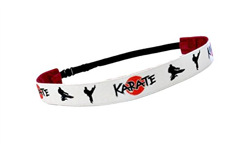 Karate Kid Outfit - RAVEbandz Exclusive Fashion Headbands (KARATE) ñ Adjustable, Non-Slip Sports & Fitness Hair Bands for Women and Girls