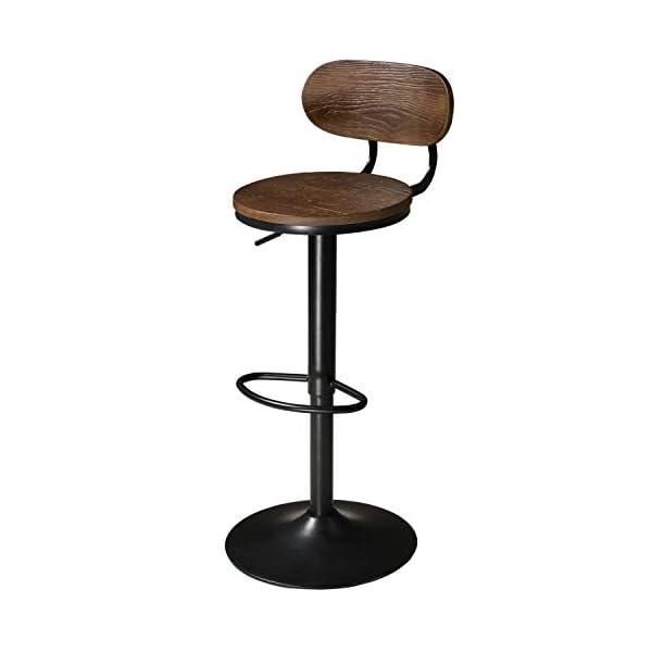 Pivotant Tabouret de Bar x 1 Réglable Tabouret Bar Tabouret Bar Cuisine Industriel Chaise de Bar avec Dossier Rétro…