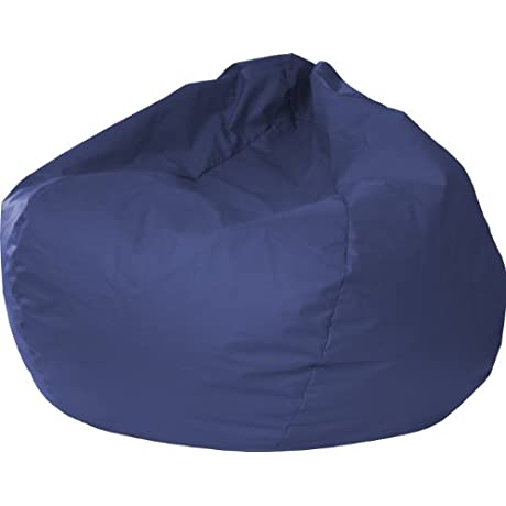 Gold Medal Bean Bags 30014046824 XX Large Leather Look Bean Bag Navy