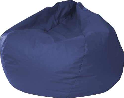 Gold Medal Bean Bags 30014046824 XX-Large Leather Look Bean Bag, Navy (Large Vinyl Bean Bag)