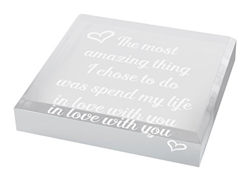 - Gifts for Wife Spend My Life in Love With You Gift for Wife Anniversary Gifts for Wife Unique Home D?cor Engraved Acrylic Keepsake Paperweight Plaque