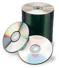 100 Spin-X 12X Digital Audio Music CD-R 80min 700MB Shiny Silver