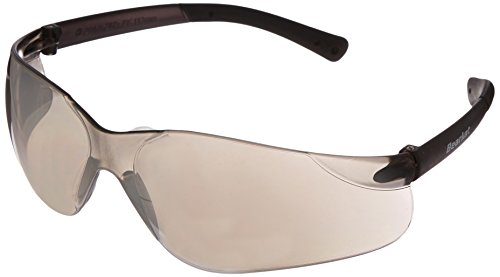 Crews Glasses 135-BK117 BearKat Safety Glass with Smoke Temple, Silver Mirror Lens