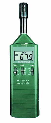 Thomas 4187 Traceable Humidity and Temperature Meter with Output, -4 to 140 Degree F, -20 to 60 degree C,  + or - 1 Degree C Accuracy, 10 to 95% RH range (Freestanding Mid Range)