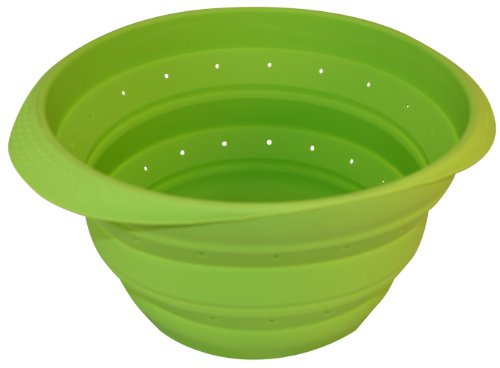 Better Houseware Collapsible Colander, Lime Green
