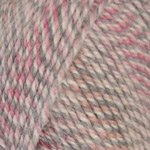 ''Beginner's Scarf'' Knit Kit with Encore Worsted COLORSPUN Yarn - RASPBERRY DRIFT