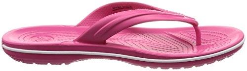 Crocs Crocband Flip, Tongs Mixte Adulte Rose (Paradise Pink/White)