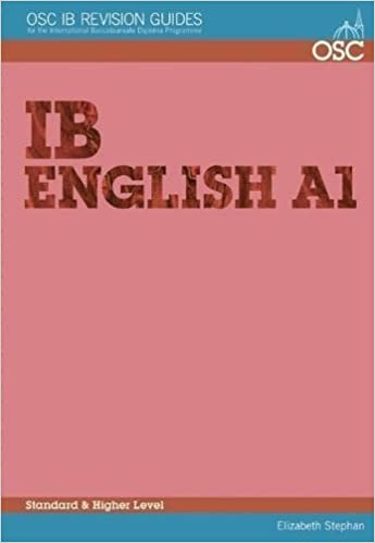 Téléchargez des livres complets gratuitement en ligne IB English A1 Standard and Higher Level (OSC IB Revision Guides for the International Baccalaureate Diploma) by Elizabeth Stephan (2003-07-15) in French PDF FB2