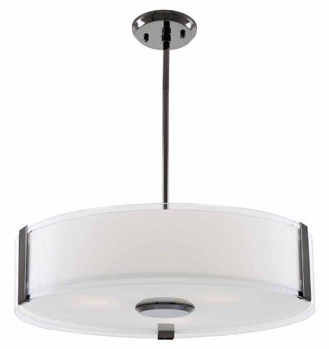 DVI Lighting DVP14508SN-SSOP Pendant with Silk Screened Opal Glass Shades, Satin Nickel Finish (Satin Ssop)