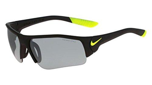 Nike Golf Skylon Ace XV Junior Sunglasses, Matte Black/Volt Frame, Grey with Silver Flash - Sunglasses Sale Zeiss For Carl