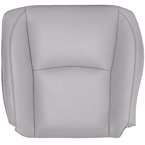 The Seat Shop Driver Bottom Replacement Leather Seat Cover - Dark Gray (Compatible with 2004-2009 Lexus RX 330, 350, and 400h)